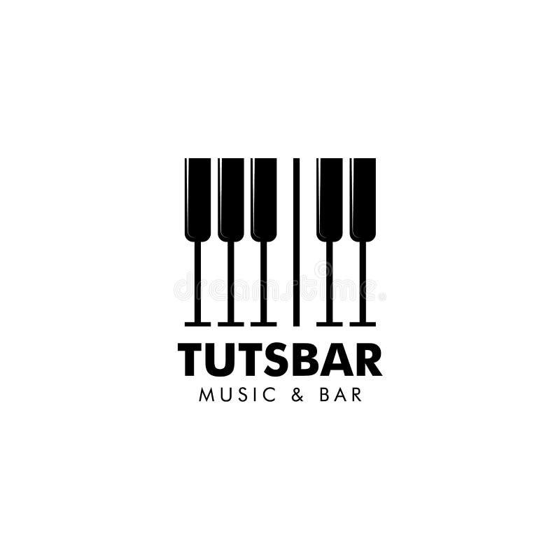 Music and bar logo vector illustration