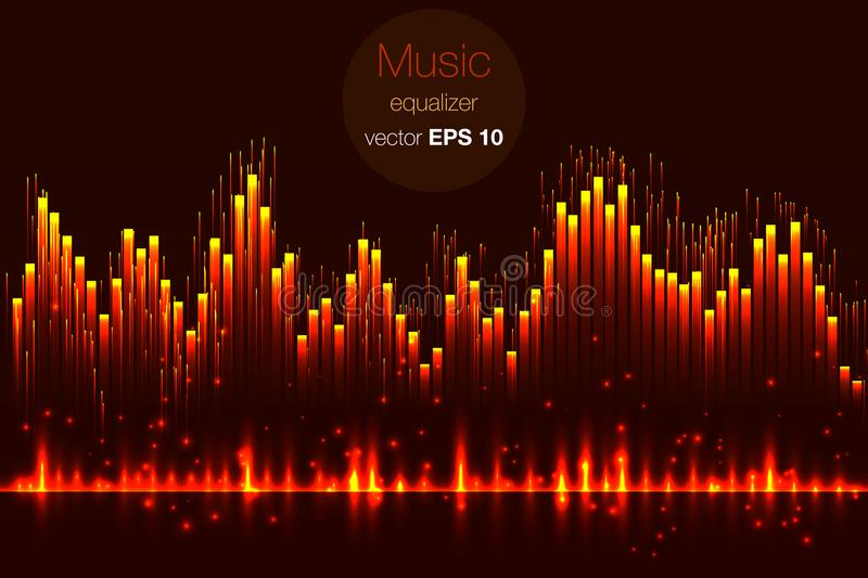 music beat vector lights background abstract equalizer sound wave