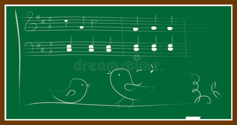 Download Music bird blackboard stock vector. Image of birds, classroom - 32135512