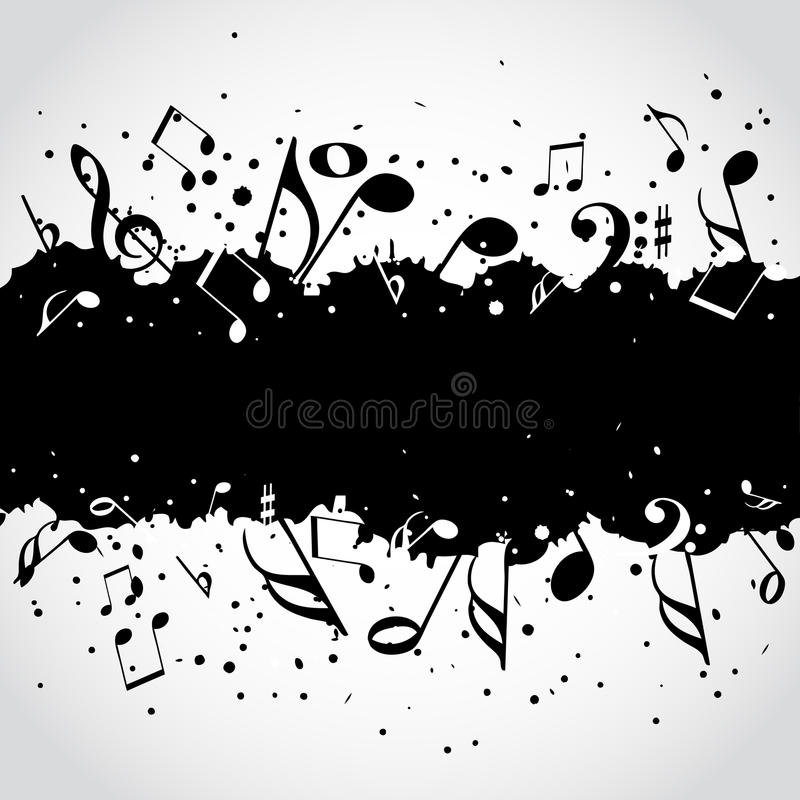 Music black blot background vector illustration