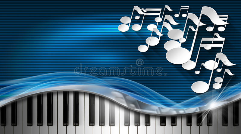 Download Music Blue And Metal Business Card Stock Illustration