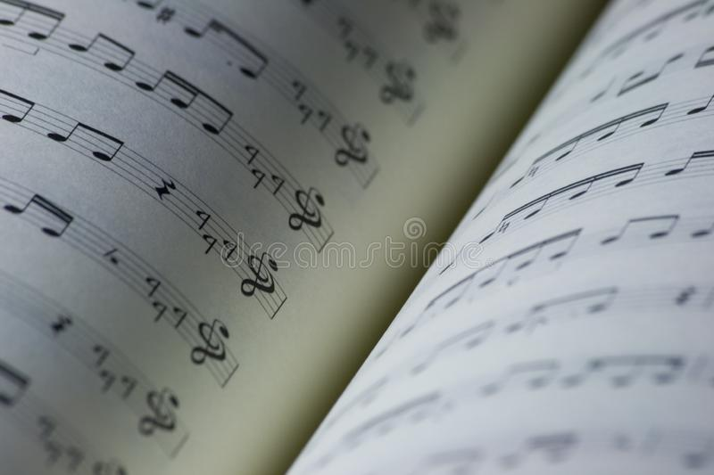 Music book stock photography