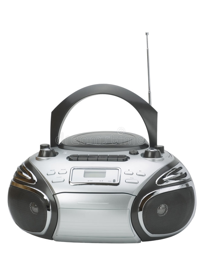 Music boom box. Boom box isolated and antenna royalty free stock images