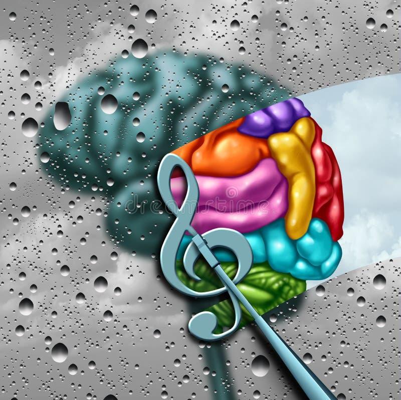 Music Brain stock illustration