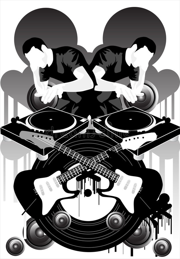 Music Brand X stock illustration