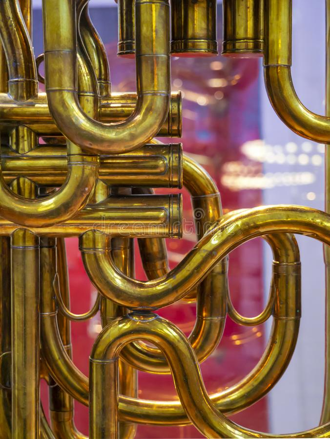 Music. Brasswind instrument Alto horn. stock photography