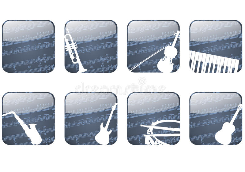 Download Music button stock illustration. Image of classical, musical - 23916282