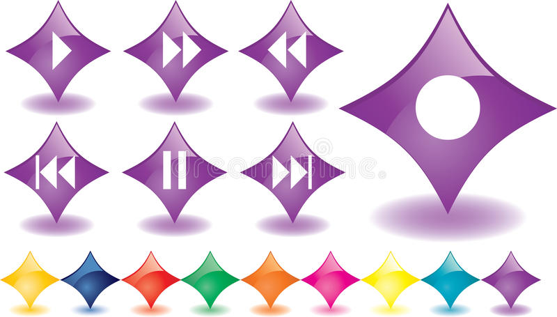 Download Music buttons stock vector. Image of music, purple, button - 12712987