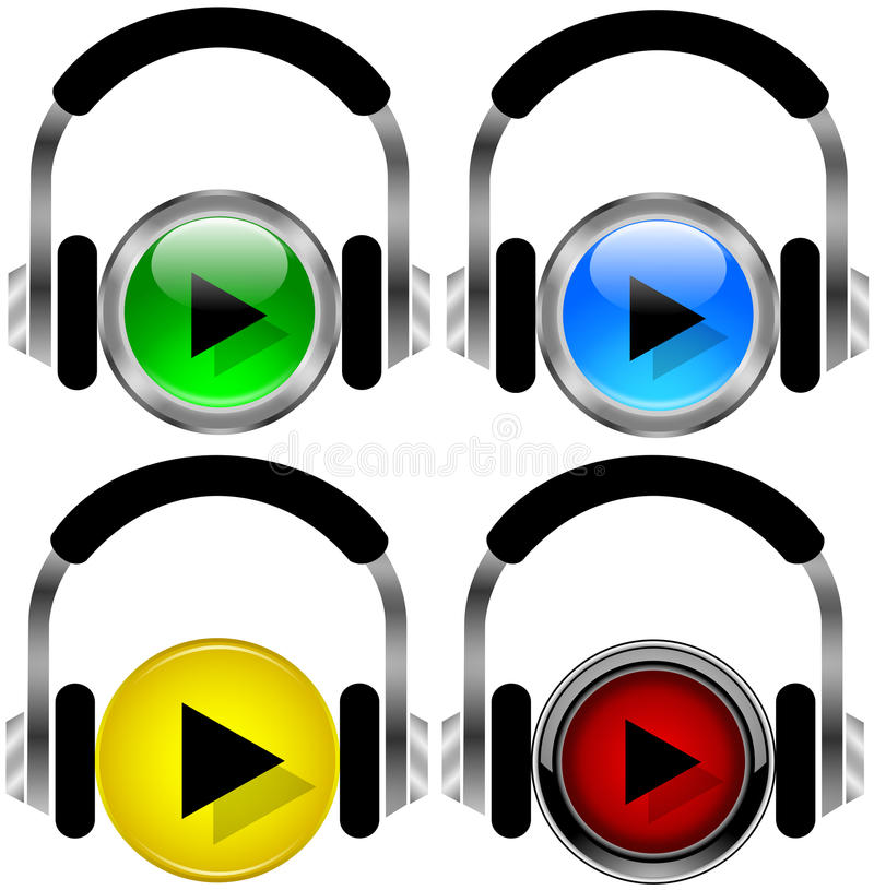 Music buttons stock illustration