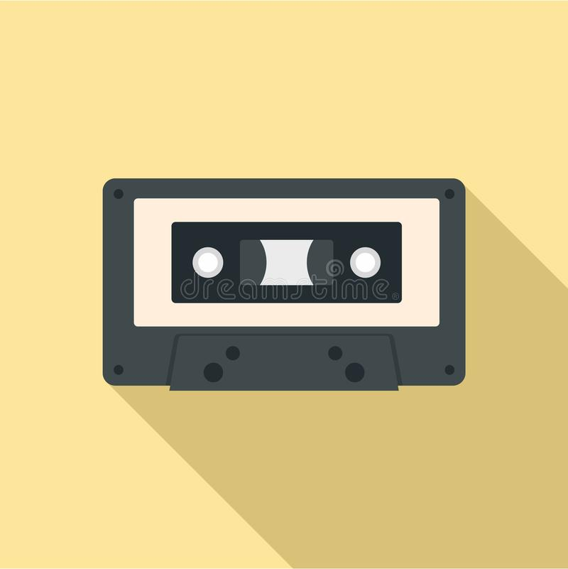 Free Music Casette Icon, Flat Style Royalty Free Stock Photography - 124693017