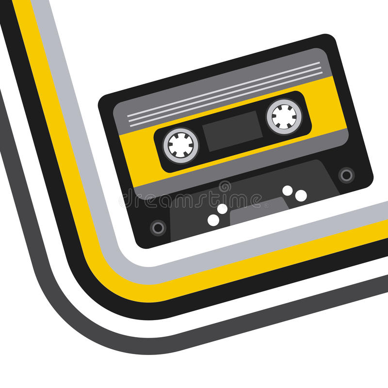 Music casette icon royalty free illustration