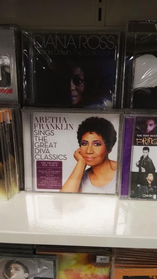 Music CD albums royalty free stock photos