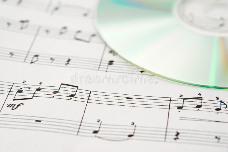Download Music CD And Music Sheet Stock Image - Image: 22281341