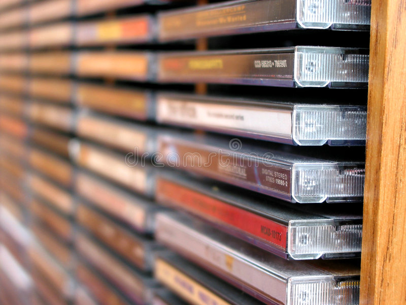 Music cd stack royalty free stock photo