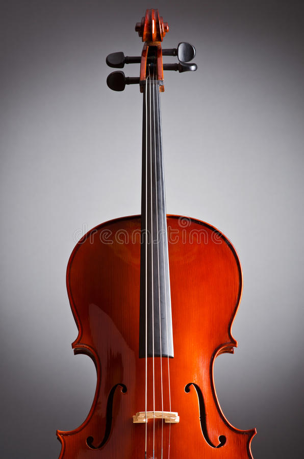 Download Music Cello in the dark stock photo. Image of instrument - 24165048