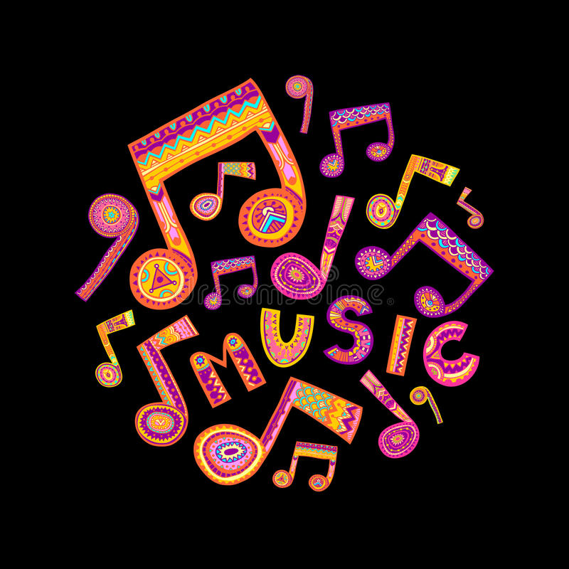 Music circle royalty free illustration