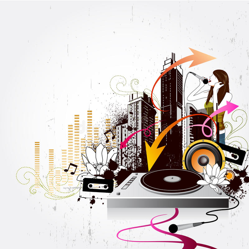 Music city royalty free illustration