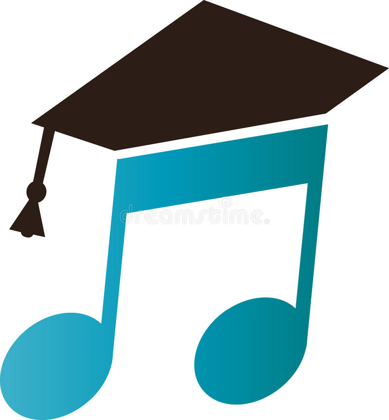 Music class. Music education with square cap has been created as vector vector illustration