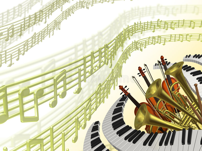 Music classical background stock illustration