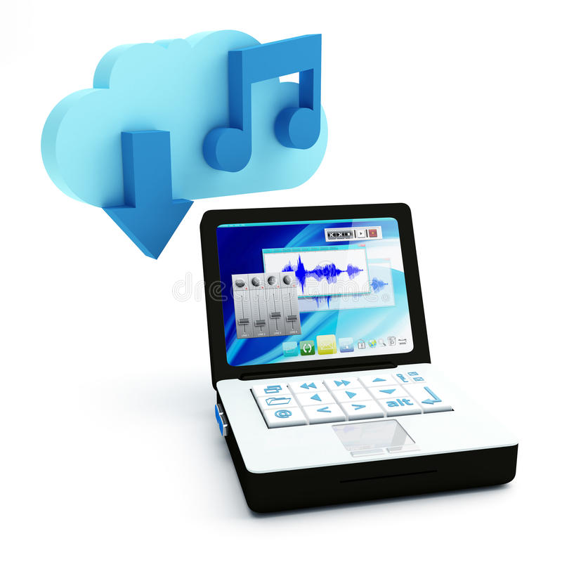 Download Music Cloud Download Royalty Free Stock Images - Image: 21710569