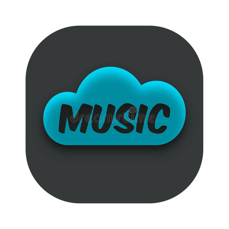Music Cloud Storage App Icon Vector royalty free stock photos
