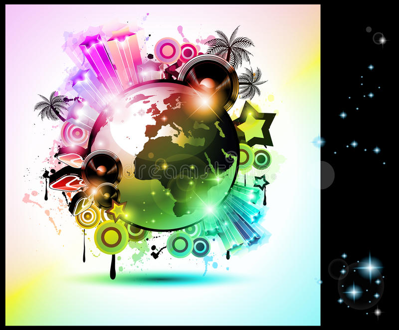 Download Music Club Background For Disco Dance  Flyer Stock Illustration - Image: 25280517