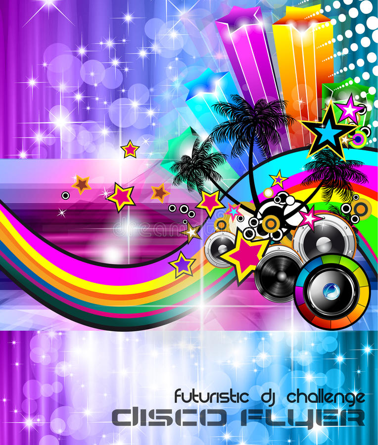 Music Club background for disco dance flyers vector illustration