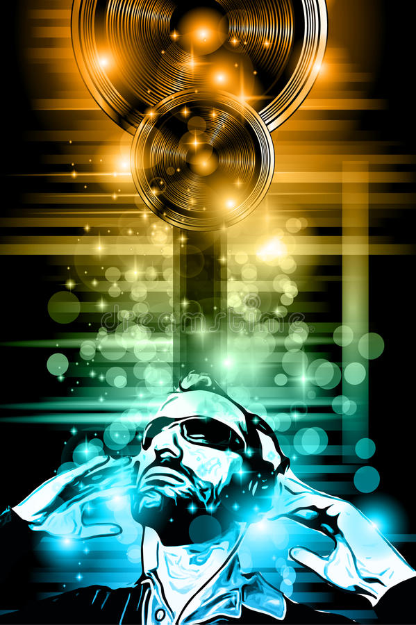 music club background for disco dance stock illustration