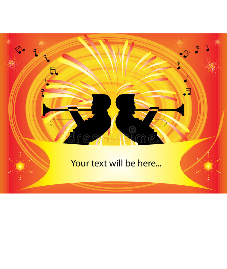 Download Music Club With Trumpet Players Stock Vector - Illustration of scene, club: 8638483