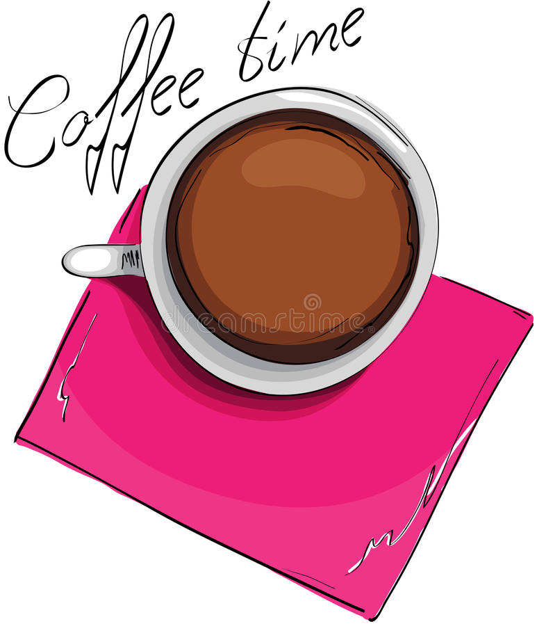 Music coffee vector illustration