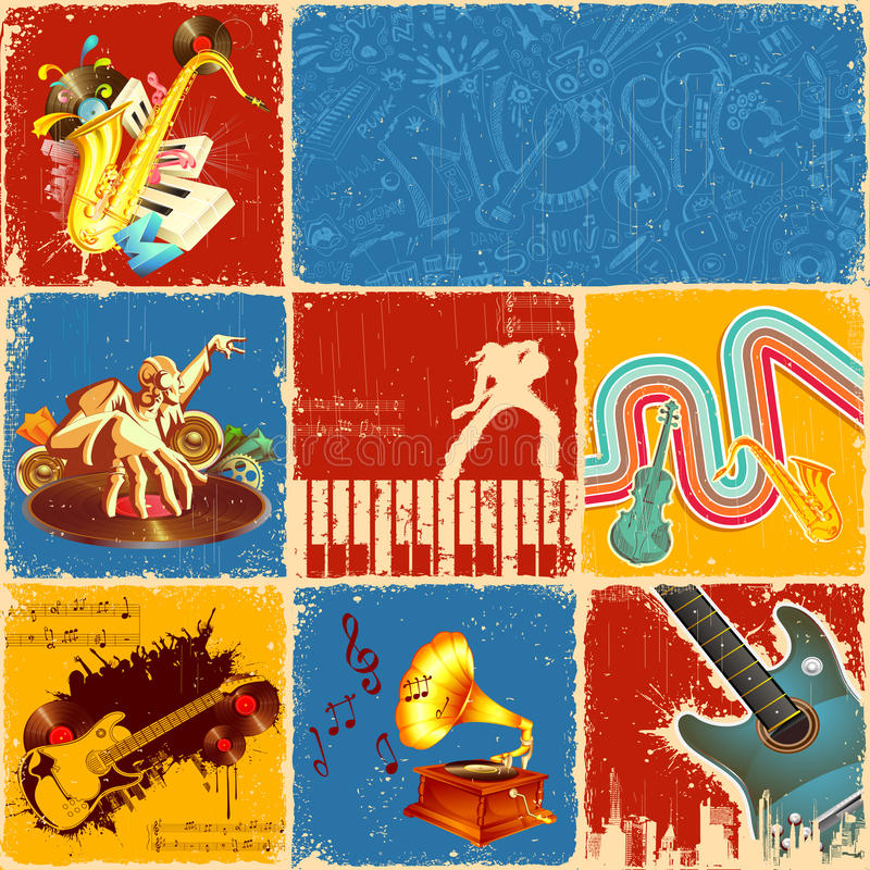 Music Collage royalty free illustration