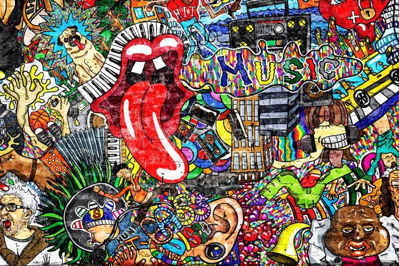 Music collage stock illustration