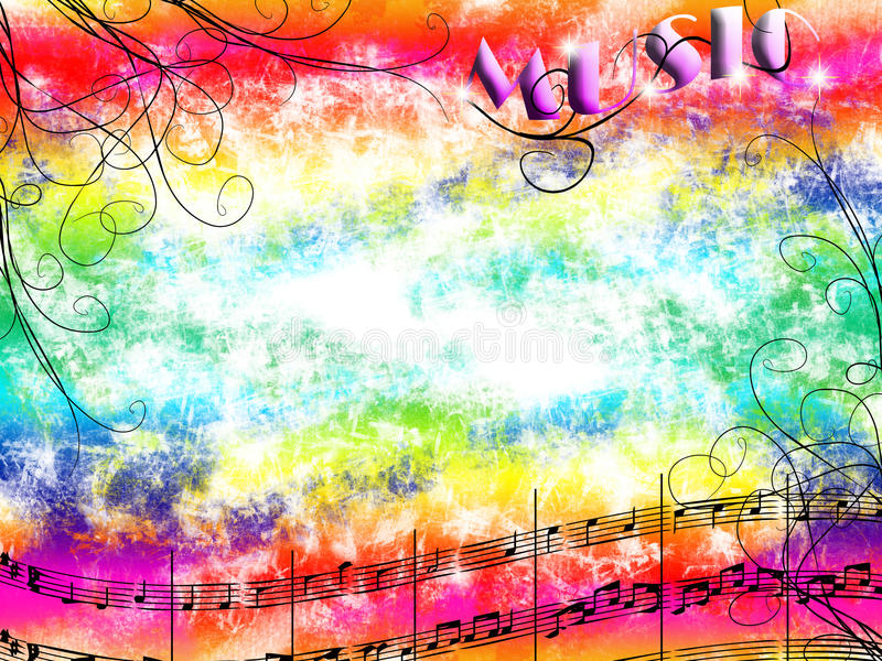 Music and colors stock illustration