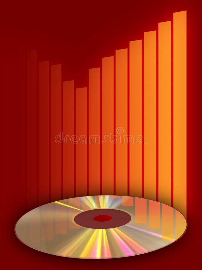 Music compact disc stock illustration
