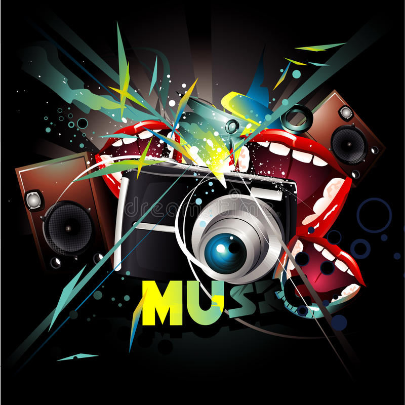 Music composition royalty free illustration
