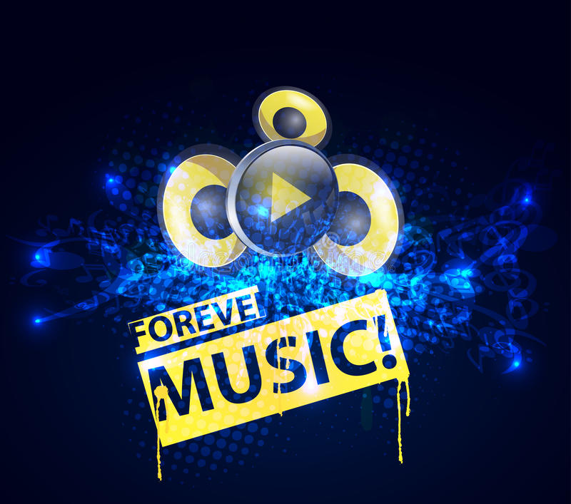 Music concept template stock illustration
