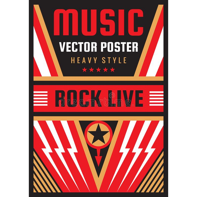 Free Music Concert Rock Festival Poster Vector Illustration. National Patriotism Freedom Vertical Banner Template. Graphic Design Stock Photos - 141478483