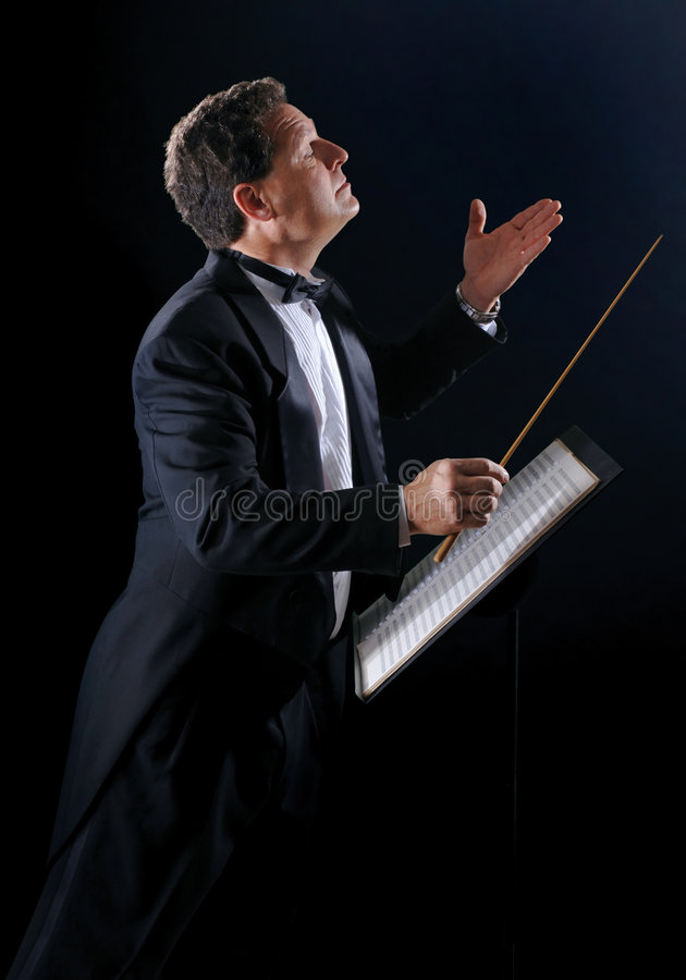 The Music Conductor stock image