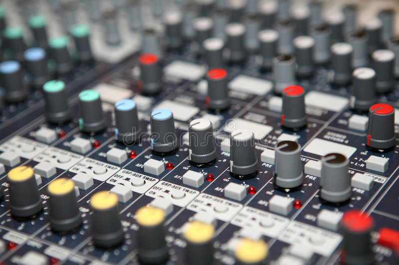 Music control panel. Device close up stock images