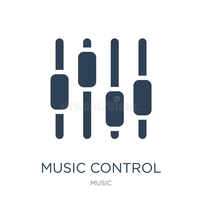 Music control settings button icon in trendy design style. music control settings button icon isolated on white background. music. Control settings button royalty free illustration