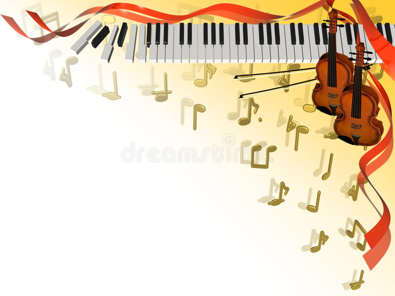 Music corner frame royalty free illustration