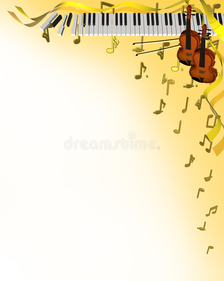 Music corner frame stock illustration