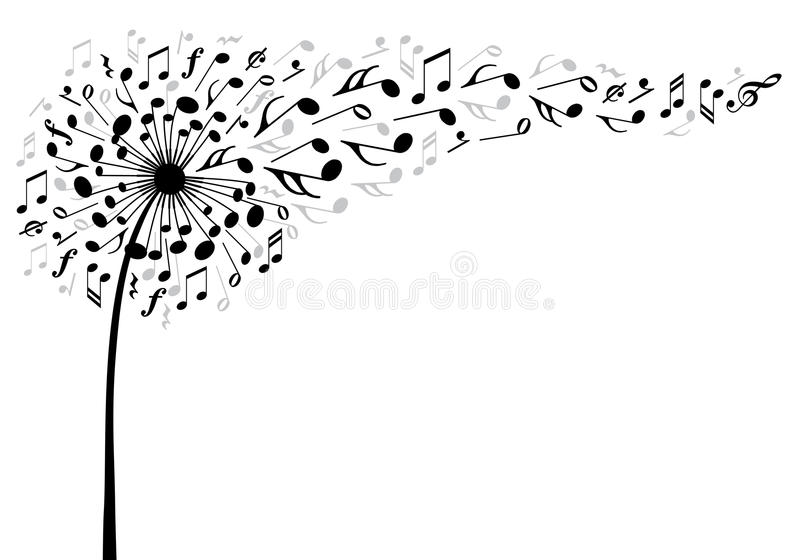 Download Music Dandelion Flower, Vector Stock Vector - Illustration: 53060591