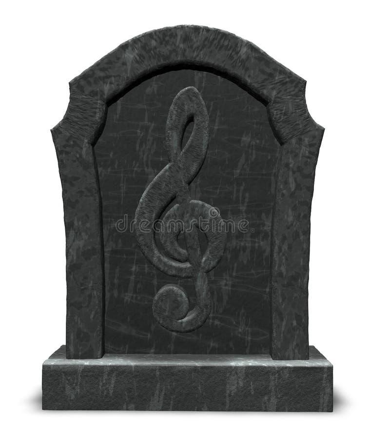 Download Music is dead stock illustration. Image of gravestone - 27411976