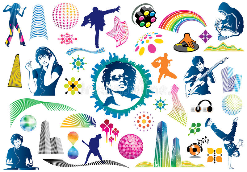 Download Music Design Elements Stock Photography - Image: 9443812