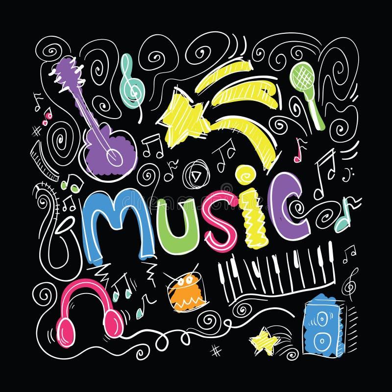 Music Design. Music slogan tee t-shirt graphics illustration design royalty free illustration