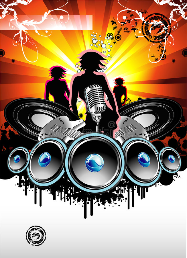 Music and Disco Background royalty free stock image
