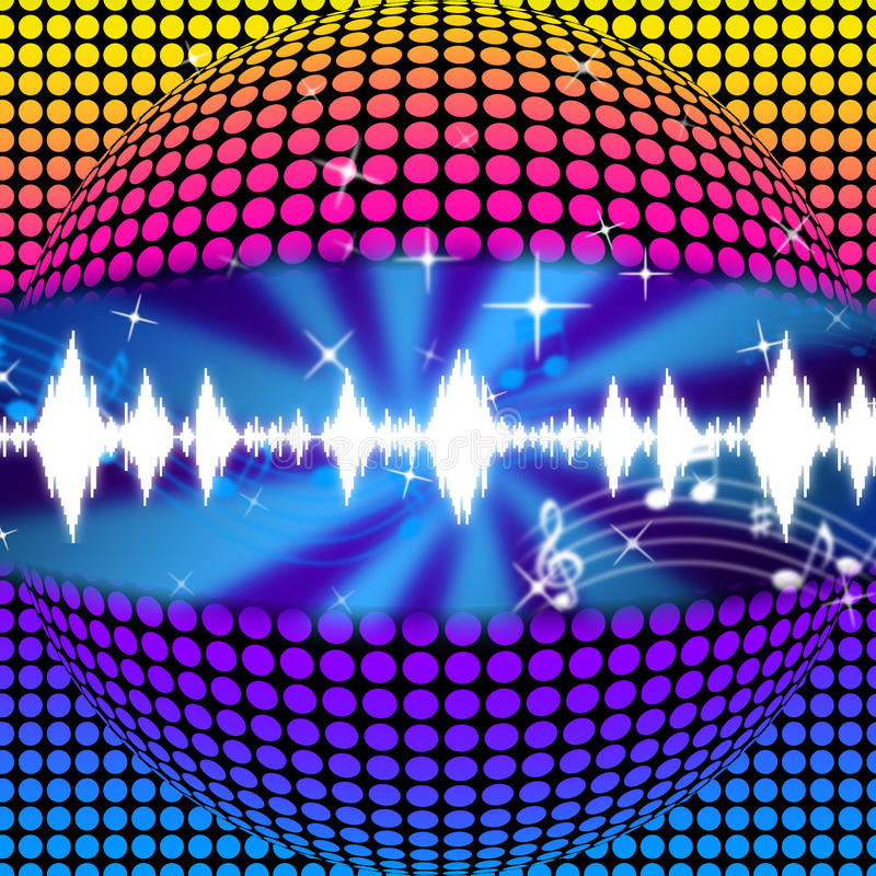 Free Music Disco Ball Background Means Soundwaves And Partying Royalty Free Stock Photography - 42079167