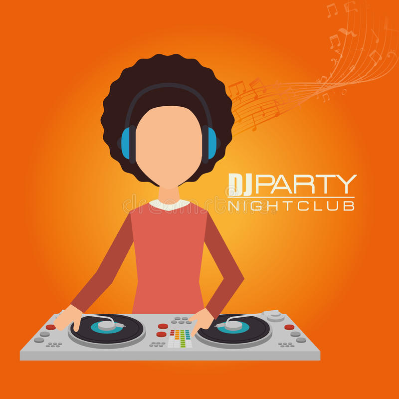 Music dj party theme vector illustration