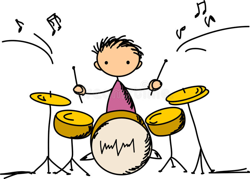 Music Doodles, vector royalty free illustration